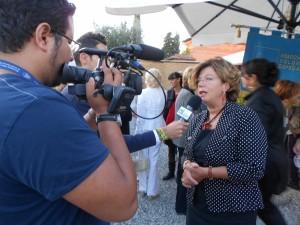Fiorenza Fanicchi intervistata dal canale Dì Lucca